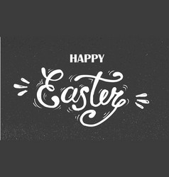 Happy easter hand drawn lettering design for vector
