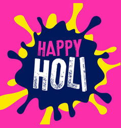Happy holi color splash background vector