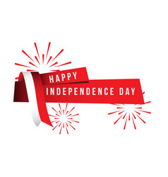 Happy indonesia independence day template design vector