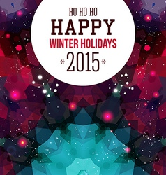 Happy New Year Card Colorful mosaic background vector
