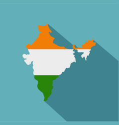 indian map icon flat style vector image