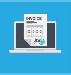 invoice invoicing online service pay vector image