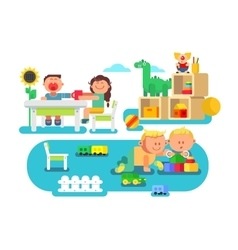 Kindergarten flat design vector
