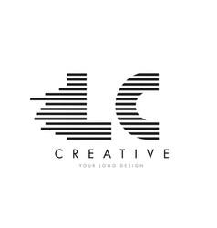 Lc l c zebra letter logo design with black and vector