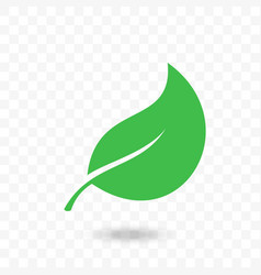 leaf green icon for vegan bio eco design vector image