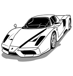 Luxurious Sport Car vector
