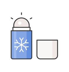 Menthol roll on deodorant vector