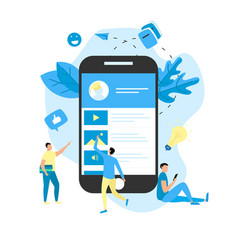 mobile online education app e-learning concept vector image
