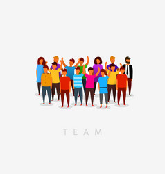 modern multicultural society and team concept vector image