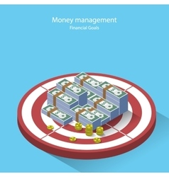 Money management financial goal flat style vector image
