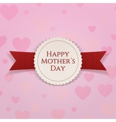 Mothers Day Label with Ribbon vector