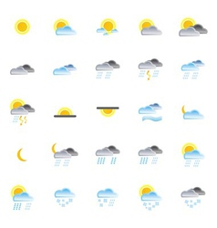 nature and weather icons vector image