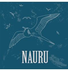 Nauru Retro styled image vector image