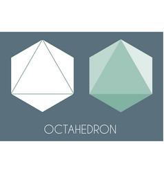 Octahedron platonic solid sacred geometry vector