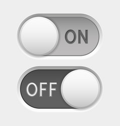 on and off icons toggle switch interface buttons vector image