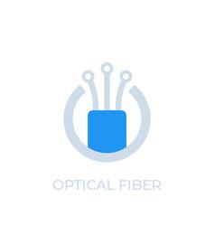Optical fiber icon logo vector