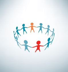 People joined in ring business concept vector