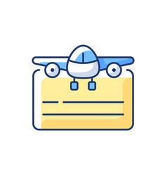Pilot license rgb color icon vector