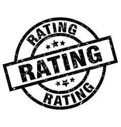 rating round grunge black stamp vector image