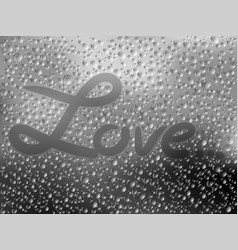 realistic of raindrops on vector image