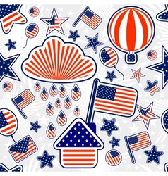 seamless pattern independence day usa vector image