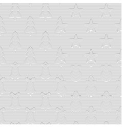 set seamless striped christmas patterns vector image