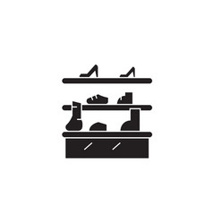 shoe stand black concept icon shoe stand vector image