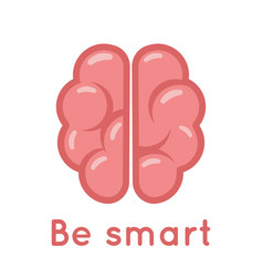 Smart brain logo symbol education scientific idea vector