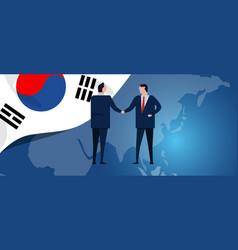south korea international partnership diplomacy vector image