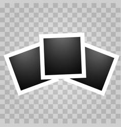 square realistic polaroid vector image