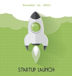 Startup launch concept vector