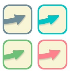 stickers with arrows set vector image