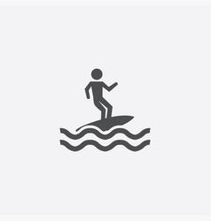 Surfer icon vector