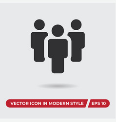 team icon in modern style for web site and mobile vector image