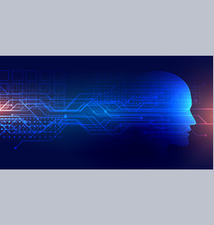 Technology artifical intelligence background with vector