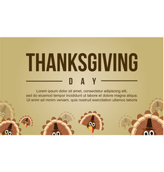 Thanksgiving theme with turkey collection vector