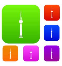 tower set collection vector image