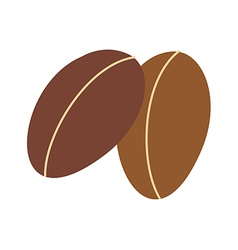 Two of coffee beans vector