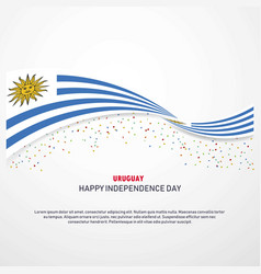 Uruguay happy independence day background vector