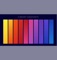 vibrant colorful set of gradients vector image