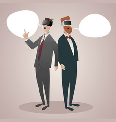virtual reality cartoon-01 vector image