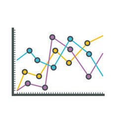 White background with statistical graphs linear vector
