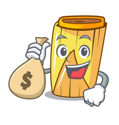 With money bag homemade wrapped tamales isolated vector