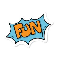 Word text blue fun image vector