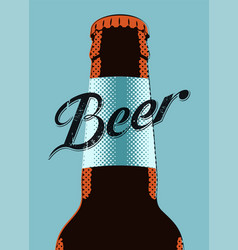 ypographic retro grunge beer poster vector image