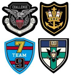 classic heraldic emblem badge vector image