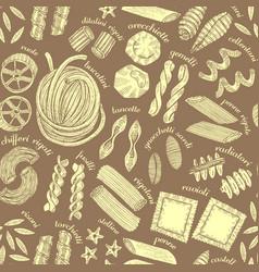 dark pasta seamless pattern vector image vector image