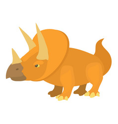 triceratops icon cartoon style vector image