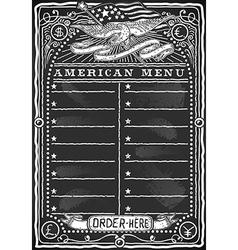 Vintage Graphic Blackboard for American Menu vector image vector image