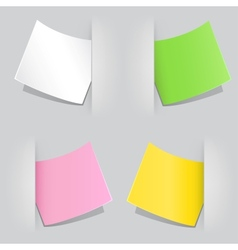 colored paper vector image vector image